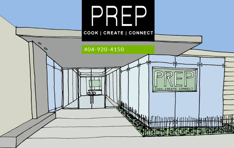 Shared Kitchen Entrance at PREP Atlanta